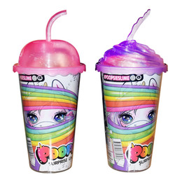 $enCountryForm.capitalKeyWord Australia - Surprise Unicorn Dolls with Hair Brush Bottle Cup Shirt Diaper PVC Kawaii Novelty Action Figures Dolls for Girls Kids Toys