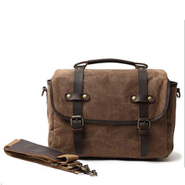 $enCountryForm.capitalKeyWord Australia - Classic Style Vintage Camera Storage Bag Laptop Bags Men Briefcase Attache Case Cross Body Shoulder Bags made of Real Genuine Leather and Ca