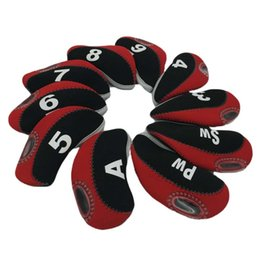 Neoprene Golf Irons Headcover 10pcs pack number printed Golf iron protect head covers protect