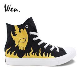 e955c3e2783 Painted canvas shoes designs online shopping - Wen Bleach Soul Mask Anime Design  Hand Painted Shoes
