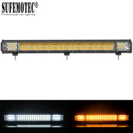 Discount amber led driving lights - 20 inch Led Bar Light Spot Flood Combo For Off road Trucks Boat SUV ATV 4WD 4x4 Car White Amber Flash Strobe Driving Wor