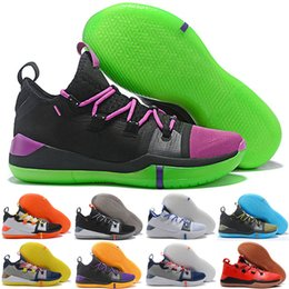 newest 5a2ad 7ecd9 Kobe AD EP Sail Black Multi Color Mens Kids Basketball Shoes Best Quality  Mamba Day Trainers Sports Sneakers