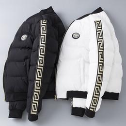 Mens high collar winter jackets online shopping - Winter New Fashion Mens Designer Jackets Slim Thick Cotton Coat High Quality Luxury Zipper Designer Jacket Plus Size M XL