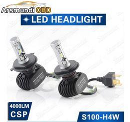Car Lamp H13 White Australia - H4 H7 H13 H11 H1 9005 9006 CSP LED Headlight 40W 4000LM All In One Car LED Headlights Bulb Head Lamp Fog Light Pure White 6