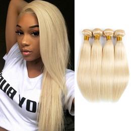 $enCountryForm.capitalKeyWord Australia - #613 Blonde Brazilian Straight Hair Weave Bundles 3 or 4 Bundles 10-28 Inch Human Hair Extensions For Black Women