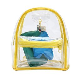 clear pvc backpacks NZ - New Brand Women PVC Clear Bags Transparent Female Shoulder Backpacks Ladies Bag Pack for girls 2019 Casual Mini Beach Backpack