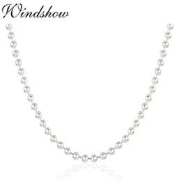 "$enCountryForm.capitalKeyWord Australia - 16""-32"" Real Pure 925 Sterling Silver Beads Chains Chocker Necklace For Women Kids Girls Men Jewelry Kolye Colier Ketting 3mm J190707"
