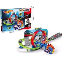 Hots wHeels online shopping - Genuine Hot Wheels Sports Car Tracksuit Brinquedo Educativo Car Track Exciting Coupe Hotwheels Track Cdr08 Children s Toys J190525