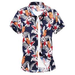 d6331a98c49 2019 New Shirt Men Clothing Short Sleeve Men s Dress Shirts Camisa  Masculina Summer Hawaii Casual Male Flower Printed Shirts 7XL
