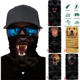 Cosplay tube online shopping - 3D Cycling Motorcycle Neck Tube Bandana Scarf Face Mask Skiing Balaclava Halloween Cosplay Half Face Shield Marvel Hero Scarfs