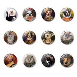 $enCountryForm.capitalKeyWord Australia - 1pcs Cartoon Animal Fridge Sticker Cute Cats Dogs Wolf Refrigerator Sticker Fridge Magnets Cabochon Message Holder Home Decor