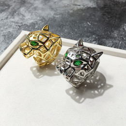 $enCountryForm.capitalKeyWord Australia - Unique Leopard Series Ring For Women love rings men With Austrian Crystal Stellux Party Jewelry Hollow green eyed tiger leopard head