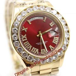 $enCountryForm.capitalKeyWord Australia - Luxury Watches Gold President Day-Date Diamonds Watch Men Stainless Mother Of Pearl Dial Diamond Bezel Automatic WristWatch