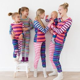 2018 New Family Matching Pyjamas Mather und Kinder Fit Familie Passende Kleidung Set Nachtwäsche Warm Pyjamas