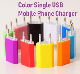 $enCountryForm.capitalKeyWord Australia - EU Plug 1A Colorful Diamond Mini USB Wall Charger Universal Adapter for iPhone 5 3GS 4G 4S for iPod MP3 MP4 for HTC Samsung Note LG Tablet