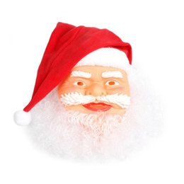 mask santa claus face 2020 - Santa Claus Mask Realistic Full Face Latex Mask Funny Creative Cosplay Props Costume For Christmas Party cheap mask sant