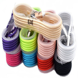 Braid fiBer online shopping - 1 M FT Metal Adatper Fabric Braided Wire Data Cable Type C Micro USB for Smart phone cloth Woven Fiber Knitted