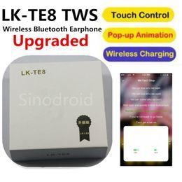 $enCountryForm.capitalKeyWord Canada - LK-TE8 Wireless Earbuds Smart Earphones 5.0 Bluetooth Wireless Charging POP UP Window Touch Control Headphones For iphone Android Phones