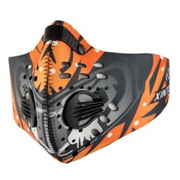 Mouth Muffle Face Mask Australia - Anti-Pollution Windproof Cycling Masks Mouth-Muffle Dustproof Bicycle Sports Road Cycling Carbon Filter Mask Half Face Cover
