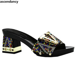 $enCountryForm.capitalKeyWord Australia - Designer New Arrival Ladies Women Sexy Low Heels Women Pumps Sapato Feminino Slip On Women Summer Slipper Shoes Decorated With Rhinestone