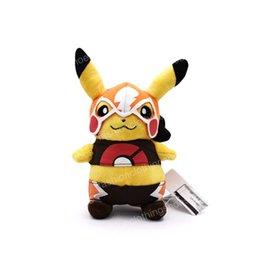 $enCountryForm.capitalKeyWord Australia - Cartoon Cosplay Masked Pikachu Plush Toys Stuffed Plush Animals Fashion Cartoon Kids Plush Toys Movies