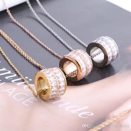 Necklaces Pendants Australia - Shinning CZ Stone 316L Stainless Steel Pendant Necklace Luxury Brand Fashion Love Necklace Couple Jewelry with Link Chain