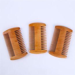 $enCountryForm.capitalKeyWord Australia - Pocket wood comb double-sided ultra narrow narrow mahogany anti-static health massage hair comb can be customized logo sz150
