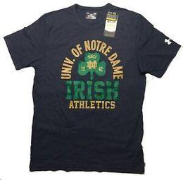 Notre Dame Marca Fighting Irish Athletics Tri-Blend T-Shirt - Marinha Grande venda por atacado