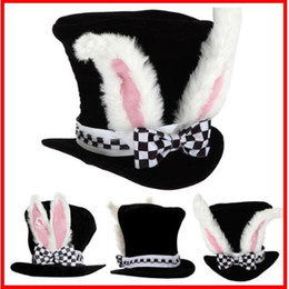 $enCountryForm.capitalKeyWord Australia - 2019 Kids Rabbit Velvet Gift Cute Plush Topper Bowknot Costume Easter Funny Performance Bunny Ears Party Hat With Checkered