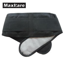 Wholesale Maxkare Adjustable Waist Back Support Brace Self heating Therapy Belt Brace Elastic Protection Health Care Stress Relaxation