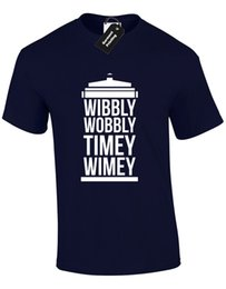 doctor jackets NZ - WIBBLY WOBBLY TIMEY WIMEY MENS T SHIRT TEE FUNNY DOCTOR DESIGN DR RETRO SCI FI jacket croatia leather tshirt