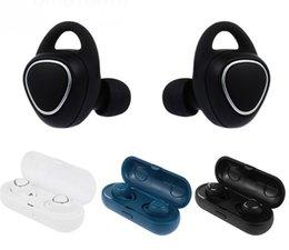 Apple Storage Boxes Australia - New Fashion SM-R150 Wireless Bluetooth headphones TWS sports waterproof mini bluetooth headsets with charge   storage box