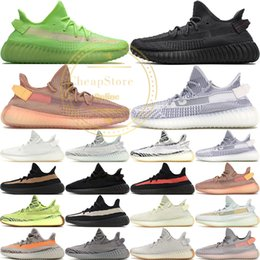 Butter Box online shopping - Clay Static V2 True Form Hyperspace Butter Sesame Kanye West New Running Shoes Zebra Bred Black Stripes Sneakers Size With Box