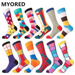 $enCountryForm.capitalKeyWord Australia - MYORED 12pairs Lot Men's Socks Calcetines Hombre fashion wedding gift men casual socks for autumn winter warm christmas gift