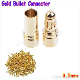 Wholesale Bullet Connectors Australia - 100pcs lot 3.5mm Gold Bullet Banana Connector Plug For ESC Battery Motor( male and female)