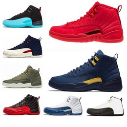 32c7d9131be4 12 12s Gym red WNTR new mens Basketball shoes for man Michigan Bulls Flu  Game UNC french blue sneaker trainers Sports designer shoe