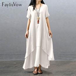$enCountryForm.capitalKeyWord Australia - Short Lose Plain Maxi Clothes White Vintage Long Hull Loose Unregular Boho Beach Dress Large Summer Clothing Y19070901