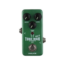 nux pedals Australia - NUX NOD-2 TUBE MAN MK II Overdrive Guitar Effect Pedal Full Metal Shell True Bypass with LED Indicator Guitar Parts Accessories