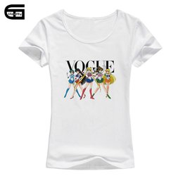 43efc5178 2018 Brand Design Women T Shirt Vogue Sailor Print Tshirt Women Short  O-Neck Sleeve Casual Shirt for Lady Tops Tees Hipster T-shirt
