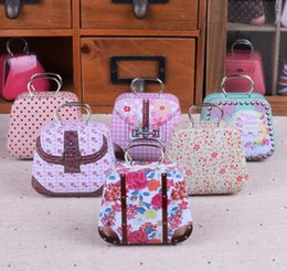 $enCountryForm.capitalKeyWord Australia - 300pcs Mini Handbag Tin Box Home Cable Organizer Storage Box Zakka Wedding Gift Candy Jewelry Container Tea Boxs