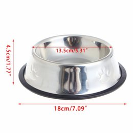 $enCountryForm.capitalKeyWord Australia - New Dog Cat Bowls Stainless Steel Travel Footprint Feeding Feeder Water Bowl For Pet Dog Cats Puppy Outdoor Food Dish 3 Sizes HD0007