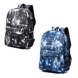 Traveling Back Bags Australia - Fashion Casual Flash Sky Print Backpack Canvas School Books Traveling Back Bags For Teenage Girls Boys Fab Women Bag
