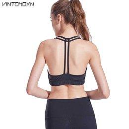 ccbf02be94533 Women Sport Fitness Gym Bra Tops Workout Training Vest Female Exercise Top  Running Wireless Women s Yoga Tank Underwear WX201