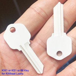 Wholesale 100 pieces ks1 kw1 key sublimation ready house key blanks white painted for DIY heat press personalization