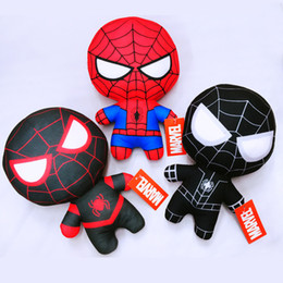 $enCountryForm.capitalKeyWord Australia - Hot Cute 20cm Q style Spider-man Stuffed plush toys Super hero plush soft The Avengers plush gifts kids toys Anime kaws toys