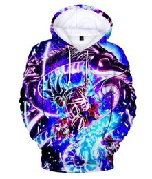 Wholesale hoodie animation for sale – custom Anime Goku Pocket Hooded Sweatshirts D Hoodies Hot Animation Pullovers Tracksuits Men Women Long Sleeve Outerwear New