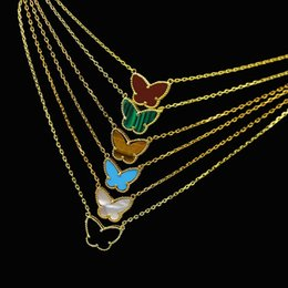 Leaf Shapes Plates Australia - The Four-leaf Flower Series Jewelry Wholesale Middle East Hot Selling Gold-plated 18K Butterfly Shaped Gemstone Lady Necklace Does Not Fade