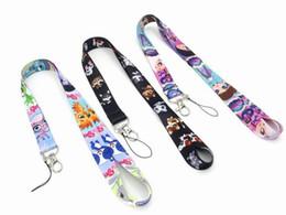 Phone Lanyard UK - New 10pcs cartoon Littlest Pet Shop Phone key chain Neck Strap Keys Camera ID Card Lanyard Free Shipping