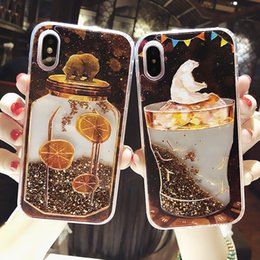 $enCountryForm.capitalKeyWord Australia - Heart Hard Pc Ice Cream Dream Cool Dynamic Liquid Quicksand Phone Case For Iphone 5 5s 5se 6 6s 7 8 Plus X Cases