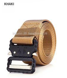 Black Wide Girls Belt Australia - 49 Inch Khaki Beige Geen Heavy Duty Men Belt Mens Designer Belts Ceinture Wide Belt Tactical Buckle Alloy Outdoor Sports Active Waist Strap